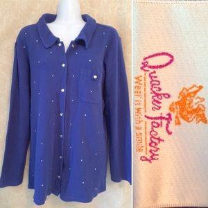 NWOT Quacker Factory Rhinestone Embellished Jacket